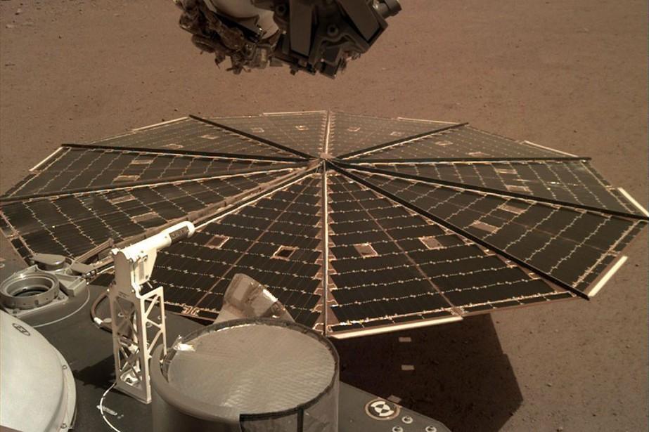 InSight a atterri le 26novembre et semble en... (PHOTO NASA VIA AP)