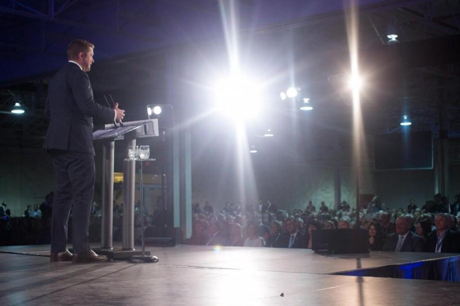 Le chef du Parti conservateur canadien Andrew Scheer... (photo Chris Young, la presse canadienne)