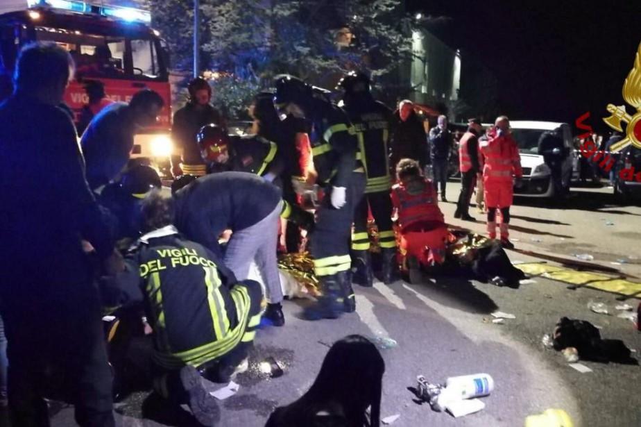 Pánico en un club nocturno en Italia: 6 muertos y decenas de heridos
