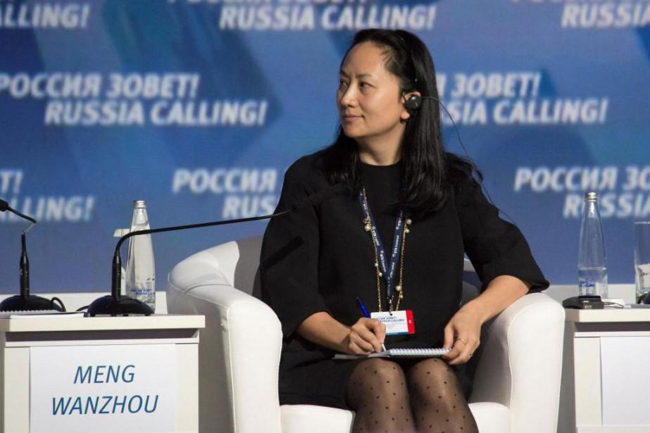 Meng Wanzhou lors d'une visite à Moscou, en... (PHOTO ALEXANDER BIBIK, ARCHIVES REUTERS)