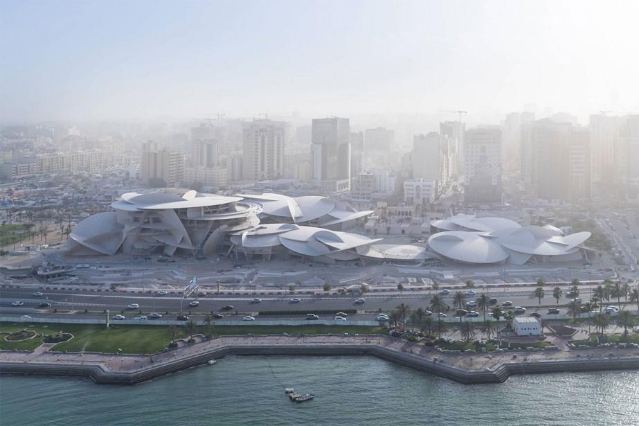 Le musée national du Qatar, un vaste bâtiment... (Photo tirée du site officiel de Jean Nouvel)
