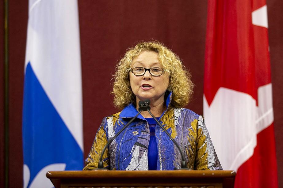Marguerite Blais, ministre responsable des Aînés et des... (Photo David Boily, La Presse)