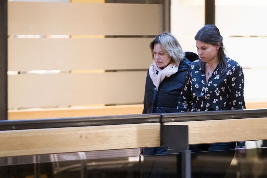 L'actrice Patricia Tulasne (à gauche) après sa rencontre,... (lPhoto Ivanoh Demers, La Presse)