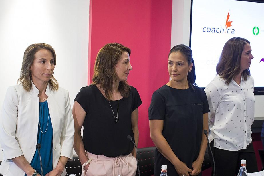 Geneviève Simard, Amélie-Frédérique Gagnon, Anna Prchal et Gail... (Photo Olivier Pontbriand, archives La Presse)