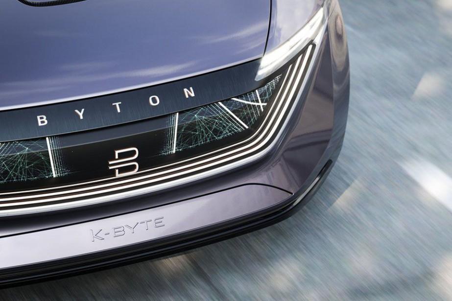 Le K-Byte du fabricant chinois Byton. L'avant s'illumine... (Toutes les photos Byton)
