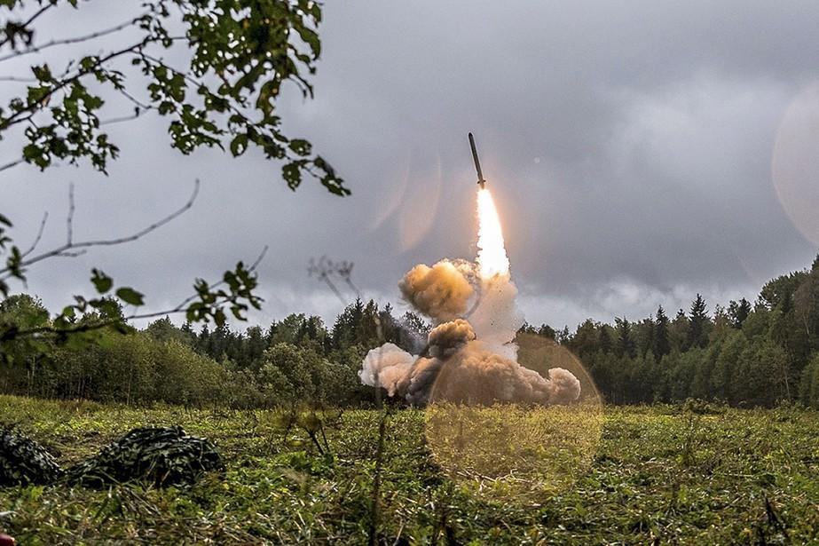 Cette photo publiée en septembre2017 sur le site... (Photo fournie par le ministère russe de la Défense via AP)