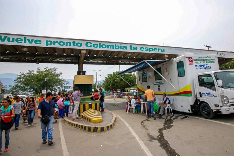 Cúcuta est la principale porte d'entrée de la... (Photo Schneyder Mendoza, archives Agence France-Presse)