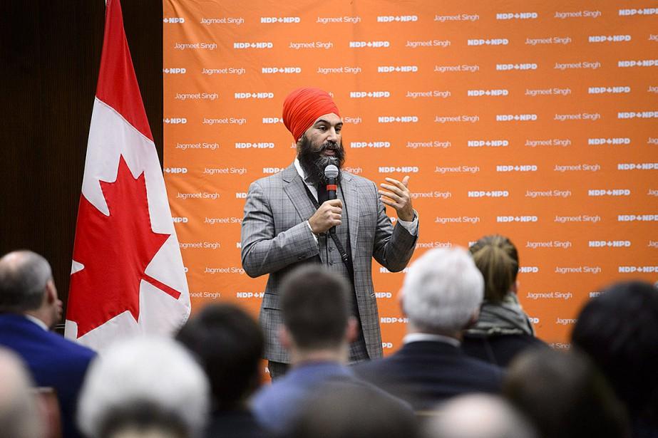 Le chef du Nouveau Parti démocratique, Jagmeet Singh,... (Photo Sean Kilpatrick, archives La Presse canadienne)