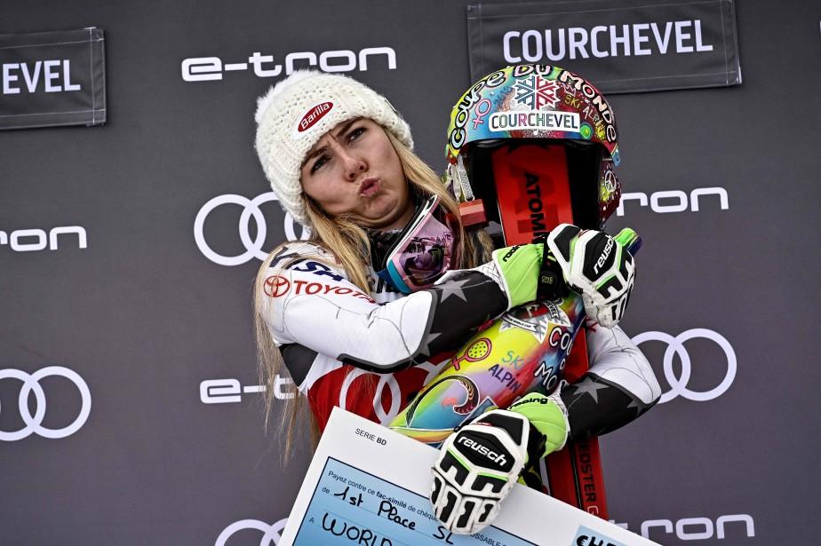 Mikaela Shiffrin est devenue la plus jeune skieuse... (Photo JEFF PACHOUD, Agecne France-Presse)