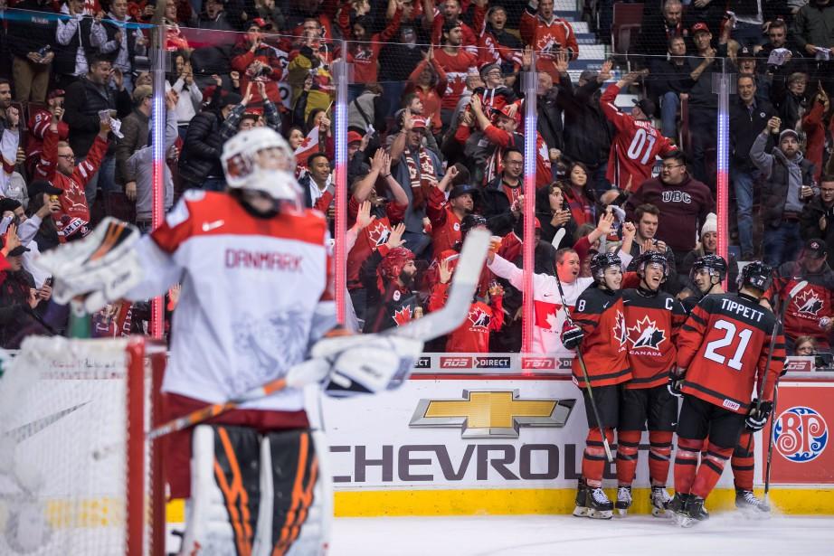 Les Canadiens ont marqué 14 buts sans réplique... (Photo DARRYL DYCK, La Presse canadienne)
