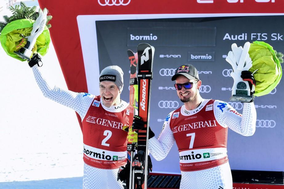 Christof Innerhofer et Dominik Paris... (Photo MIGUEL MEDINA, AFP)