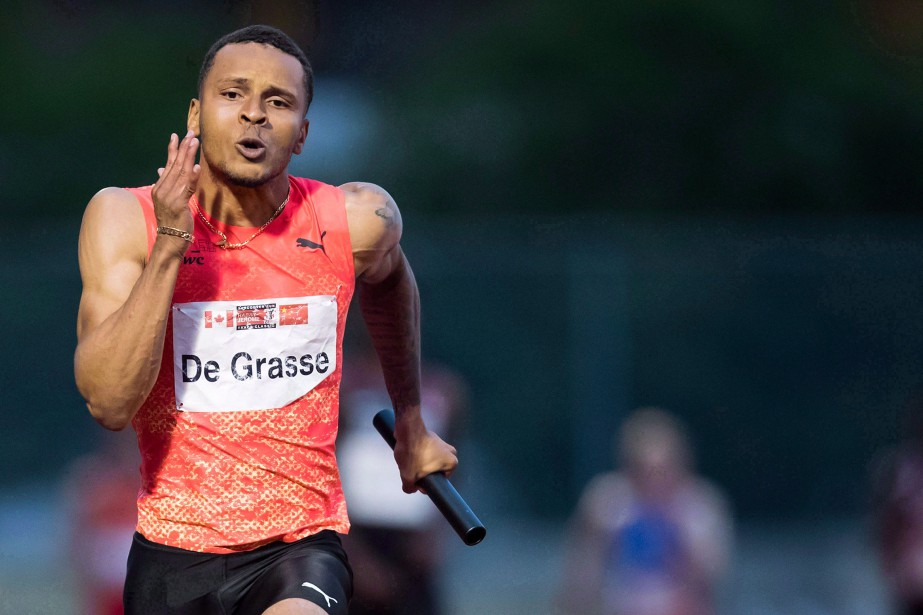 Andre De Grasse... (Photo DARRYL DYCK, archives LA PRESSE CANADIENNE)