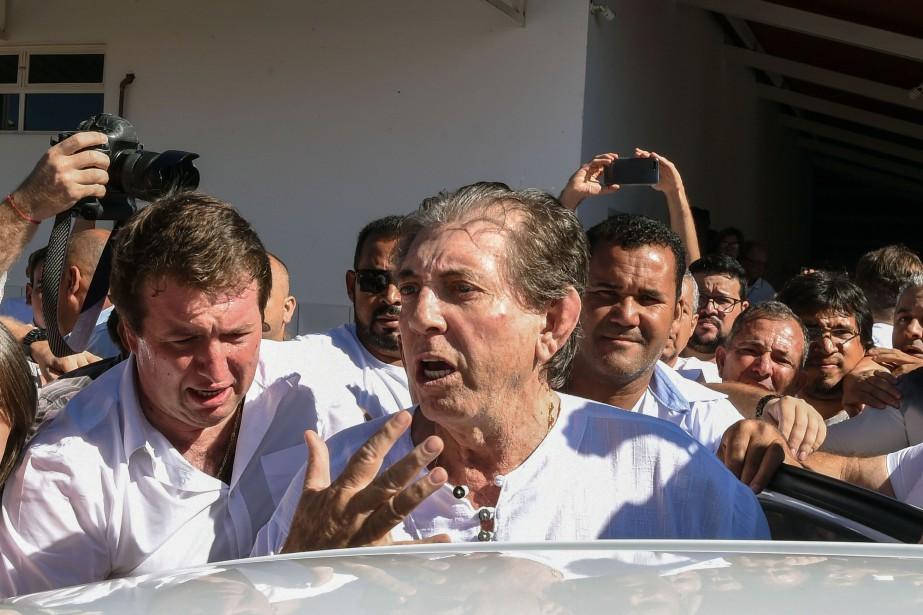 """Joao Teixeira de Faria, dit """"Joao de Deus""""... (Photo EVARISTO SA, AFP)"""