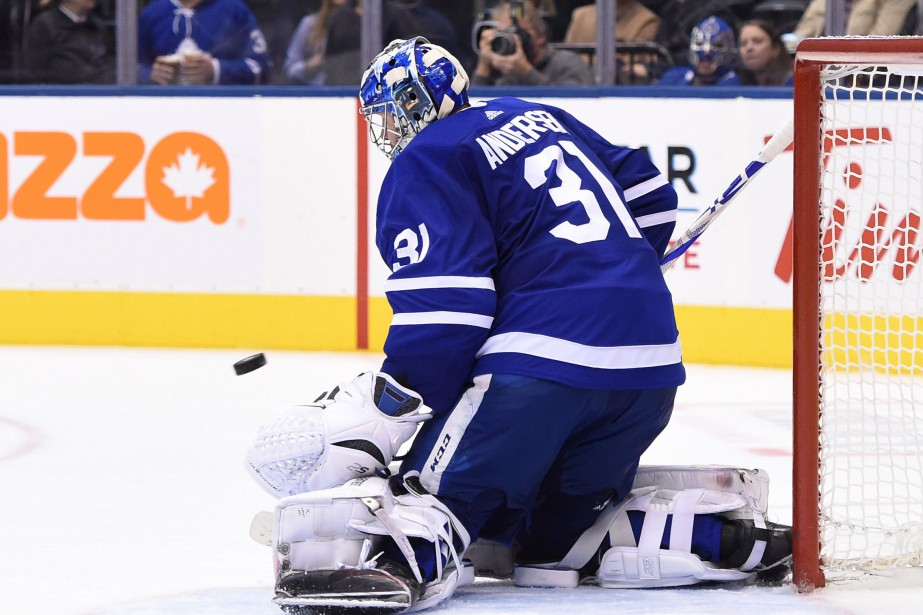 Le gardien des Maple Leafs de Toronto, Frederik... (Photo Dan Hamilton, USA TODAY Sports)