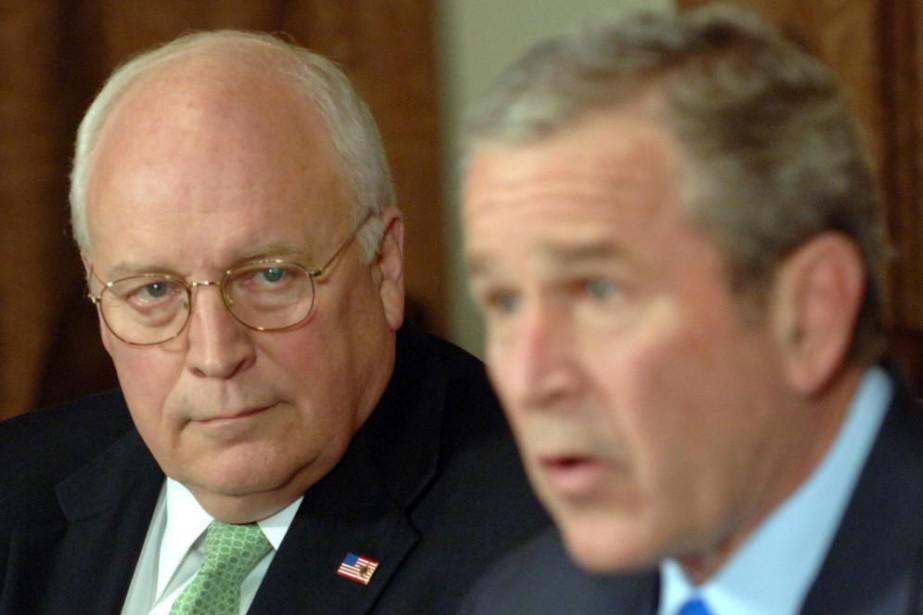 Le vice-président des États-Unis Dick Cheney et le... (PhotoRoger L. Wollenberg, archives Bloomberg)