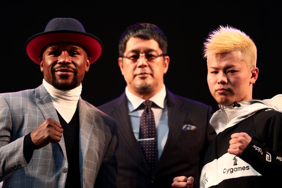 « Money » versus « Ninja Boy », Mayweather contre Tenshin Nasukawa :... (Photo BEHROUZ MEHRI, AFP)