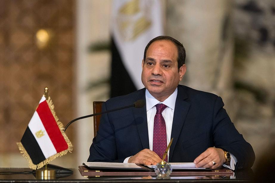 Le président égyptien Abdel Fattah al-Sissi.... (Photo ALEXANDER ZEMLIANICHENKO, AFP)