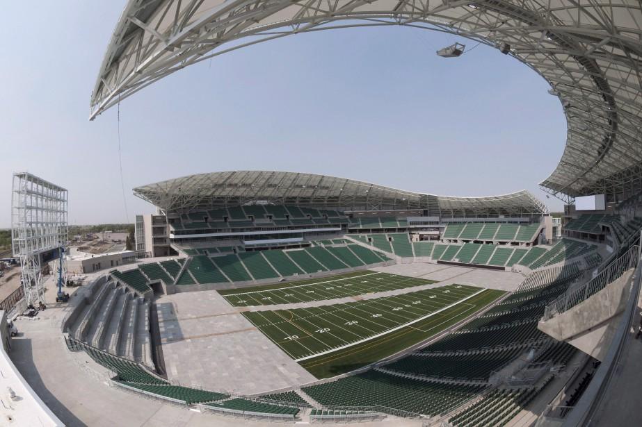 Le Mosaic Stadium, domicile des Roughriders de la... (Photo Michael Bell, archives La Presse canadienne)