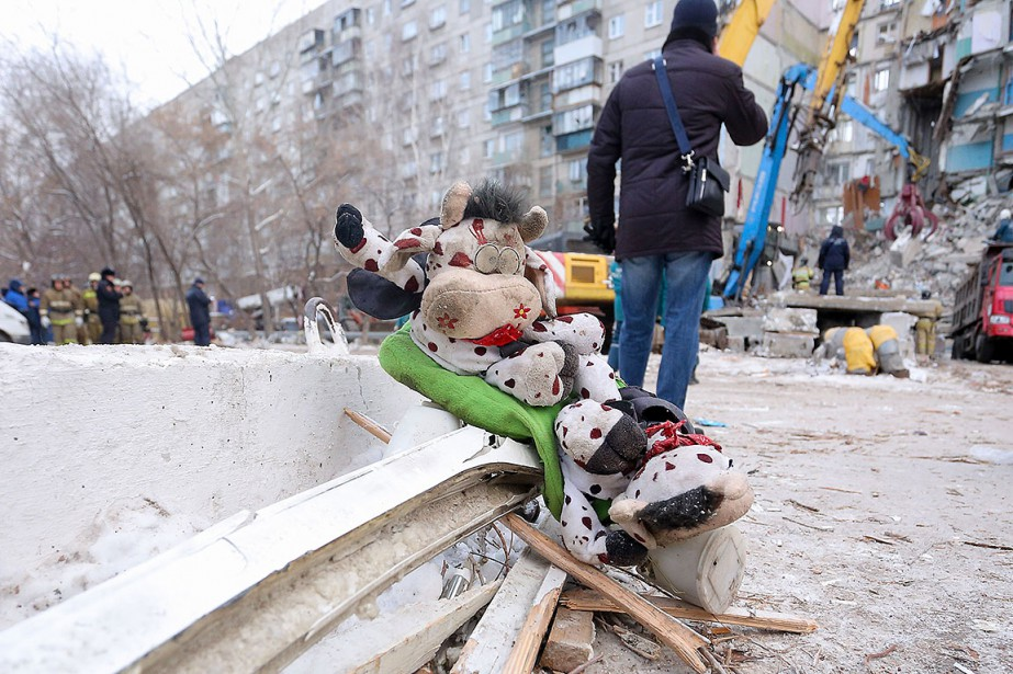 Une partie d'un immeuble de neuf étages s'est... (Photo STR, AFP)