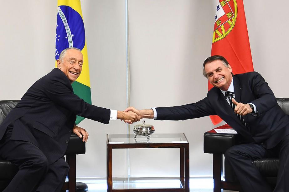 Le nouveau président du Brésil Jair Bolsonaro (à... (Photo EVARISTO SA, AFP)