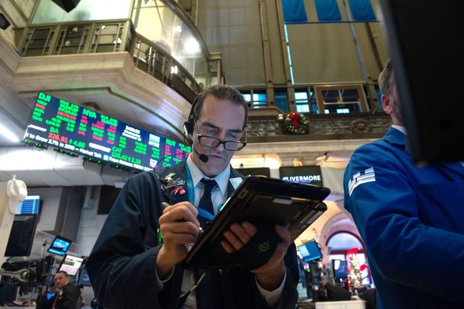 Wall Street a fini mercredi en hausse grâce à un bond des cours... (ARCHIVES AFP)