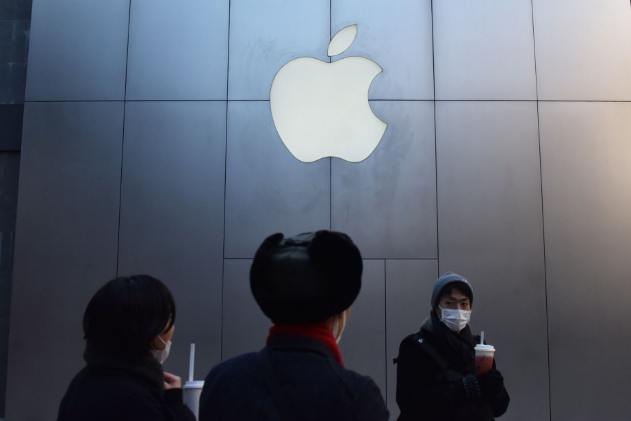Apple explique que l'effet des incertitudes commerciales a... (PHOTO AFP)