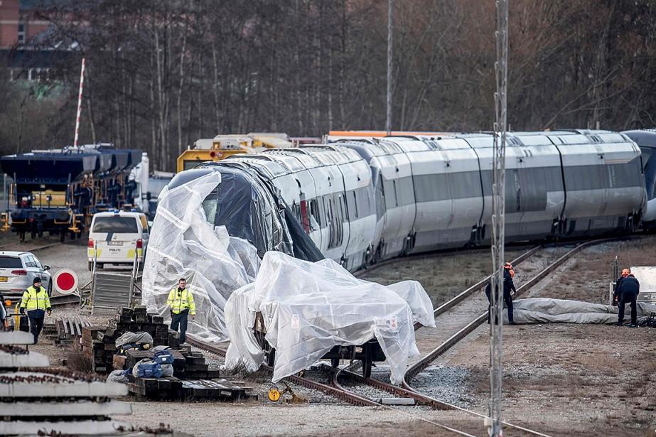L'accident s'est produit mercredi matin sur le pont... (Photo MADS CLAUS RASMUSSEN, AFP)