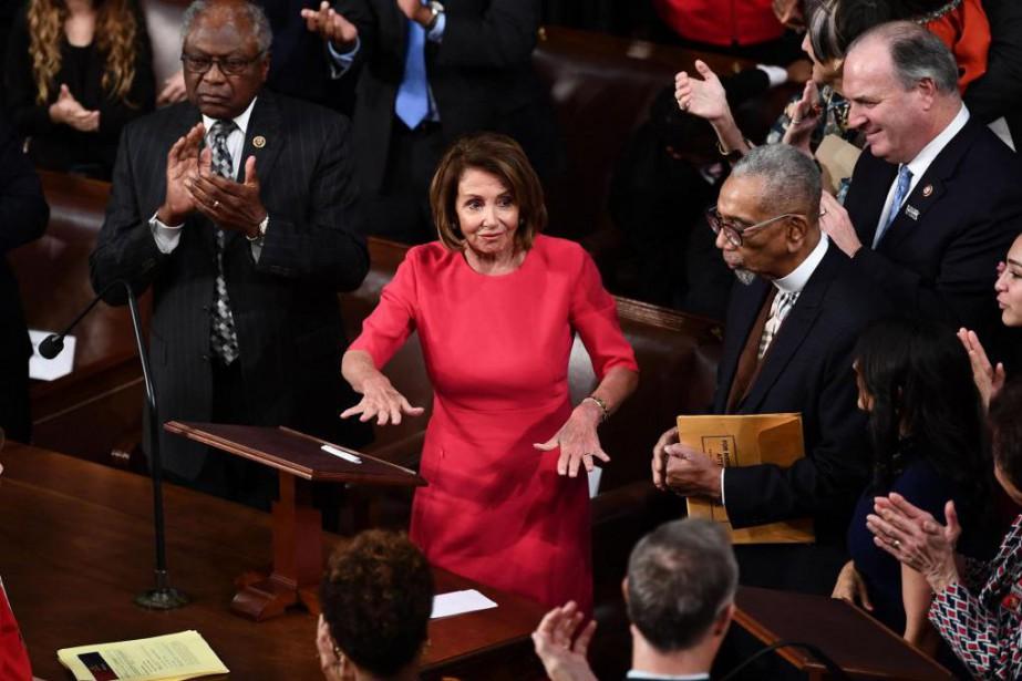 La présidente démocrate de la Chambre des représentants,... (PHOTO AFP)