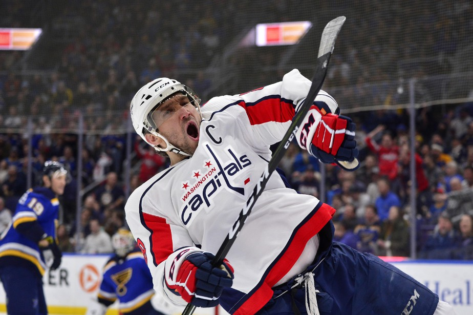 Alexander Ovechkin a récolté un 30e but mais les Blues de St.... (PHOTO REUTERS)