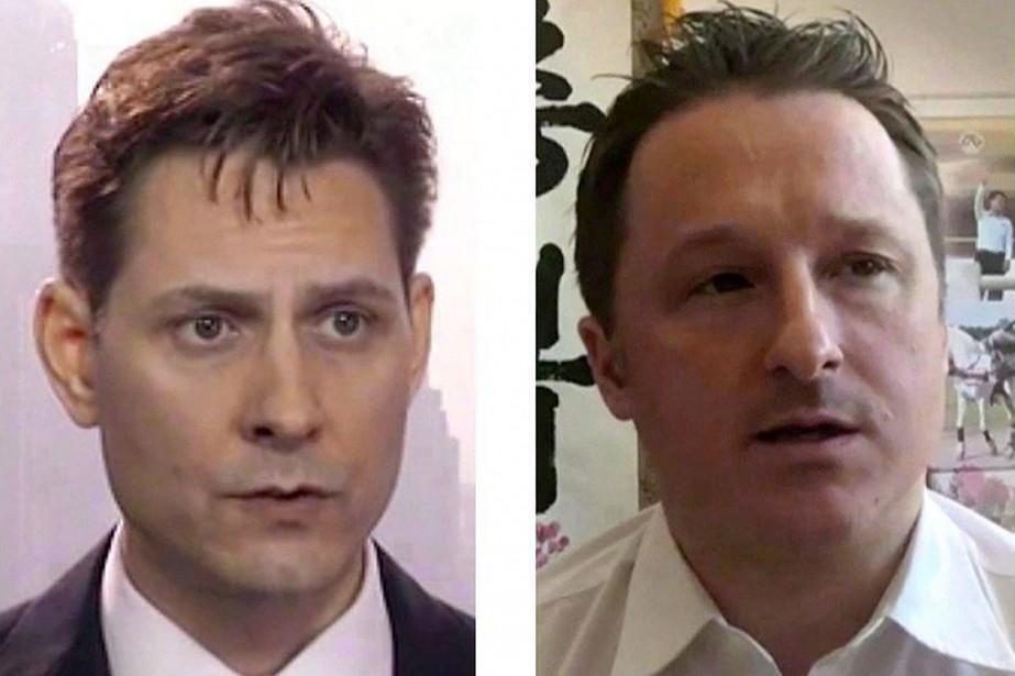 Michael Kovrig et Michael Spavor.... (THE ASSOCIATED PRESS)