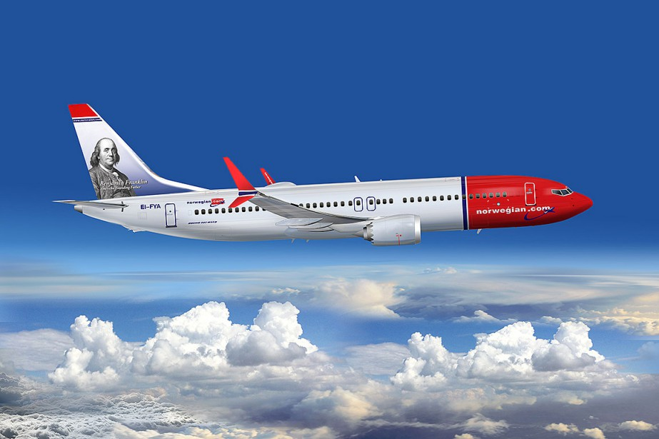 Un appareil de la compagnie Norwegian Air... (Photo fournie par Norwegian Air)
