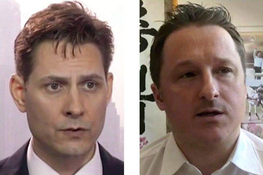 Les Canadiens Michael Kovrig et Michael Spavor sont... (Photos ASSOCIATED PRESS)