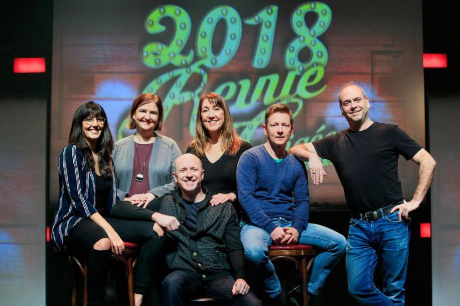 Vous... (Joelle Lanctot, Marc St-Martin, Benoit Paquette, Martin Heroux, Suzanne Champagne et de la réalisatrice Natalie Lecompte.)