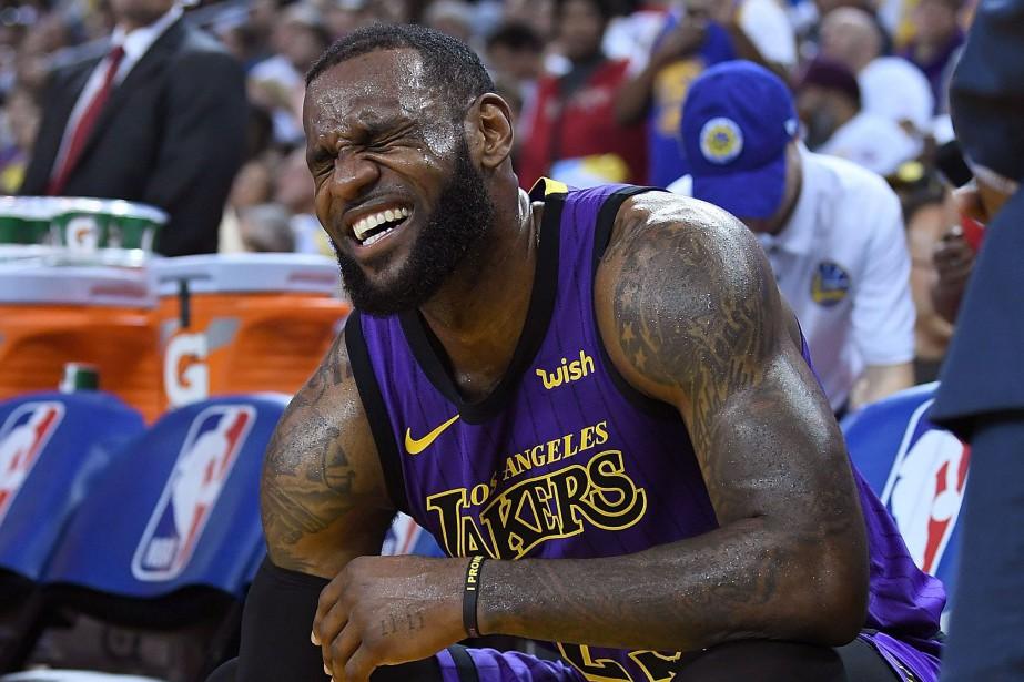LeBron James souffre d'une blessure à l'aine.... (Photo THEARON W. HENDERSON, AFP)