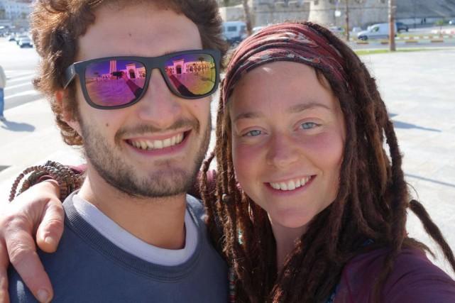 Luca Tacchetto et Édith Blais devaient se rendre... (PHOTO TIRÉE SUR FACEBOOK)