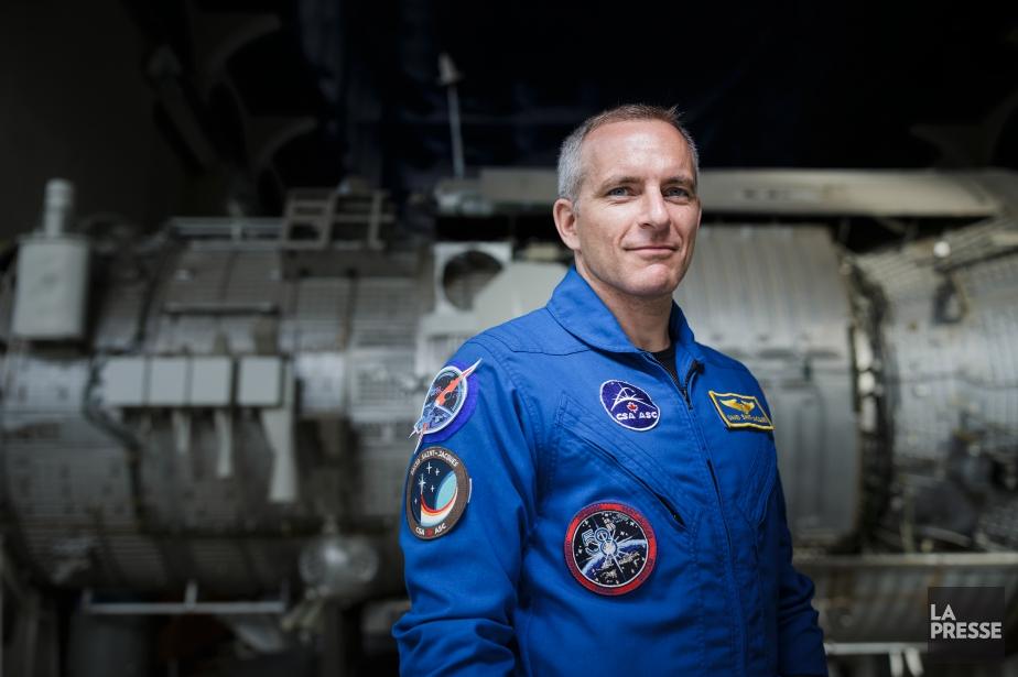 L'astronaute David Saint-Jacques lors d'une conférence de presse... (PHOTO EDOUARD PLANTE-FRÉCHETTE, Archives LA PRESSE)