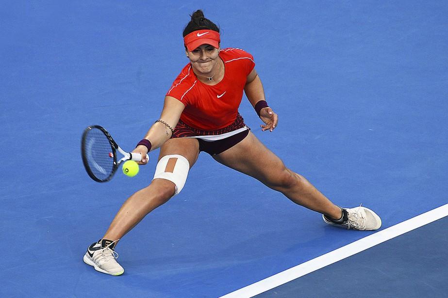 Pour atteindre la finale, BiancaAndreescu, 152ejoueuse mondiale, avait... (Photo Chris Symes, Associated Press)