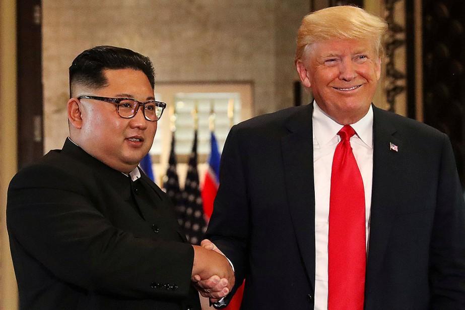 Kim Jong-un et Donald Trump se sont rencontrés... (Photo Jonathan Ernst, archives REUTERS)