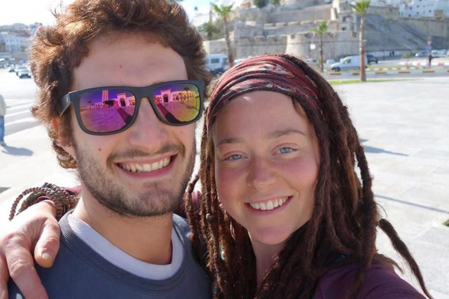 La Sherbrookoise Édith Blais voyageait avec l'Italien Luca... (PHOTO TIRÉE DE FACEBOOK)