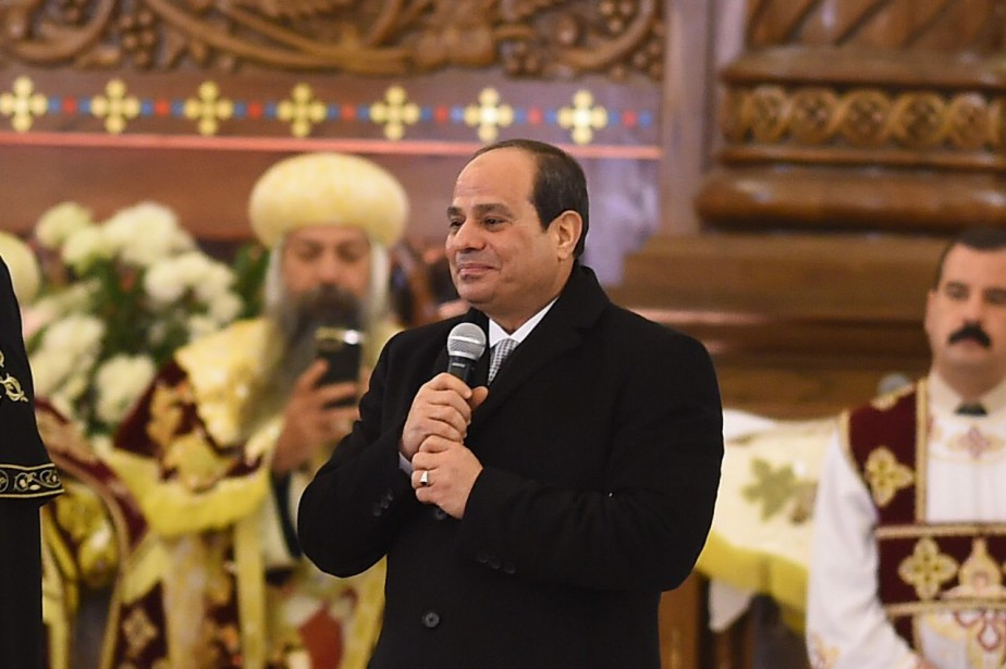 À la tête de l'Égypte depuis 2014, Abdel... (PHOTO AFP)