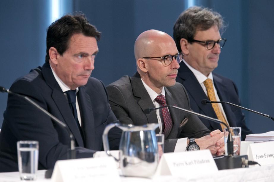 Jean-François Pruneau (au centre) était auparavant chef de... (Photo David Boily, La Presse)