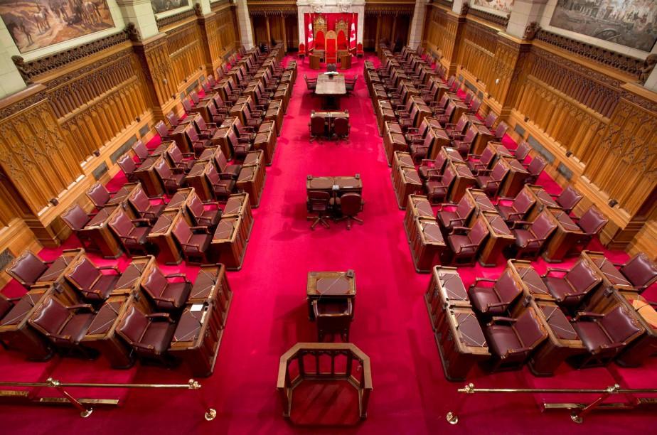 La chambre du Sénat où les sénateurs canadiens... (PHOTO PC)