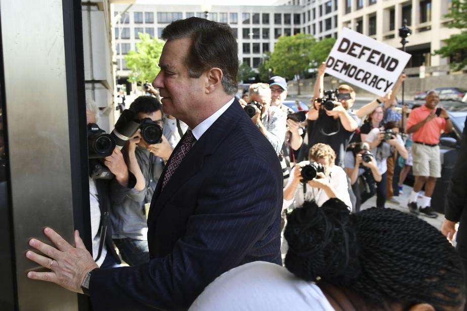 Paul Manafort lors de son procès à Washington... (ARCHIVES AFP)