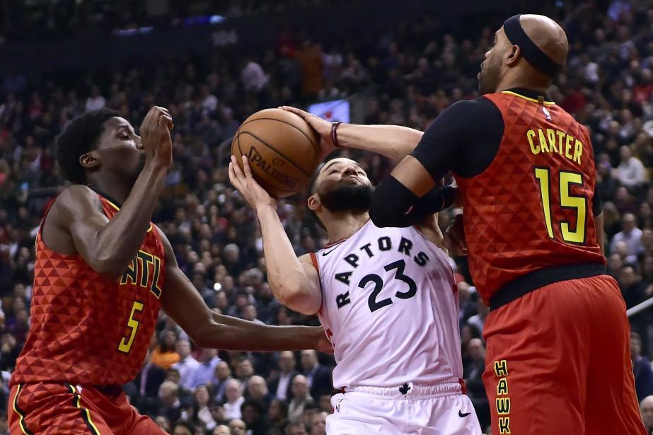 Les Raptors ont arraché un gain de 104-101 aux dépens des Hawks... (PHOTO PC)
