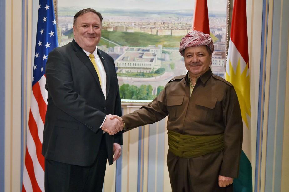 MikePompeo a été reçu par les dirigeants kurdes... (Photo Andrew Caballero-Reynolds, REUTERS)