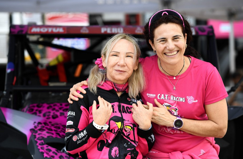 Camelia Liparoti (à g.) and Rosa Romero posent... (Photo FRANCK FIFE, AFP)
