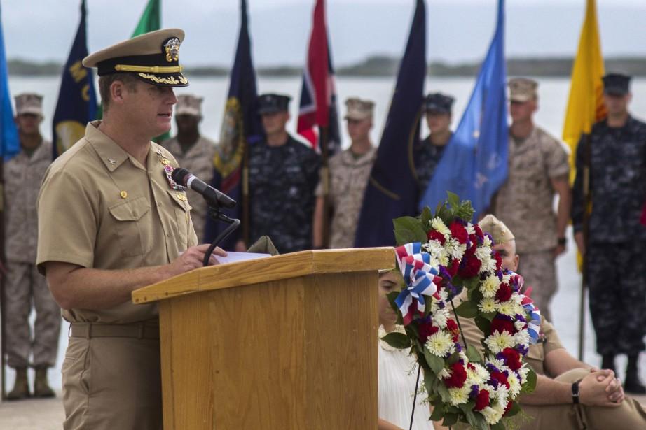 John Nettleton commandait la base de la marine... (ARCHIVES AP)
