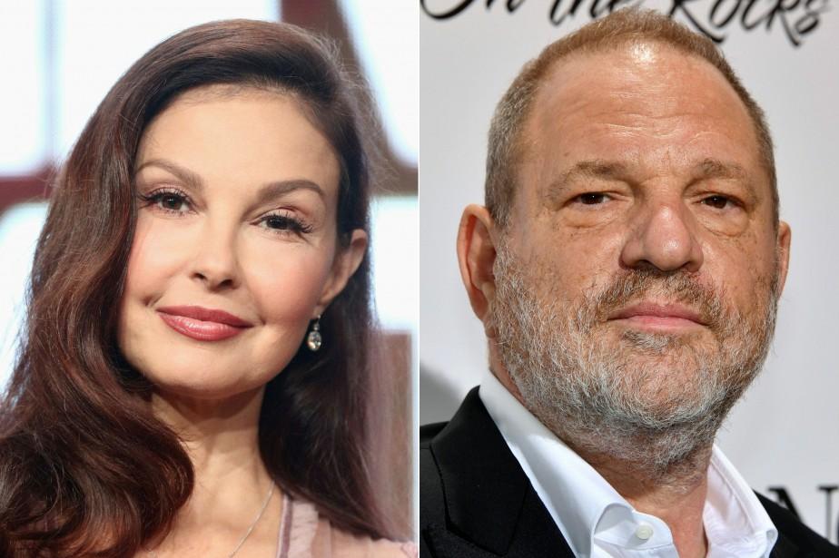 L'actrice Ashley Judd et le producteur déchu Harvey... (Photo FREDERICK M. BROWN YANN COATSALIOU, archives AFP)