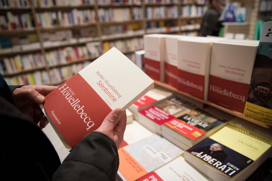Sérotonine, le dernier livre du romancier Michel Houellebecq,... (Photo THOMAS SAMSON, AFP)