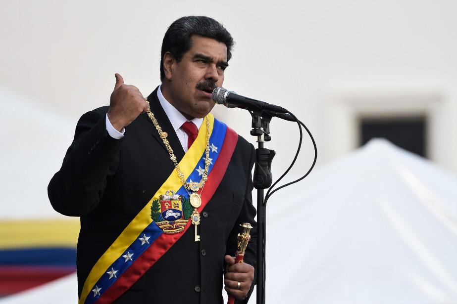 Le président vénézuélien NicolasMaduro... (Photo FEDERICOPARRA, AFP)